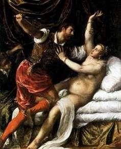 Тарквиний и Лукреция   Тициан Вечеллио