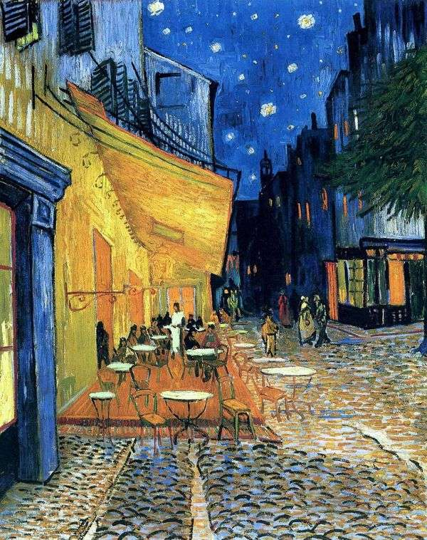 Терраса кафе на Площади Форум в Арле, ночью   Винсент Ван Гог
