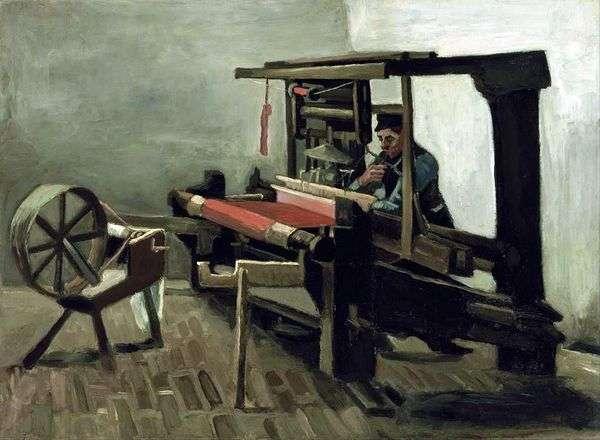 Ткач с прялкой, обращенный к художнику левой стороной   Винсент Ван Гог