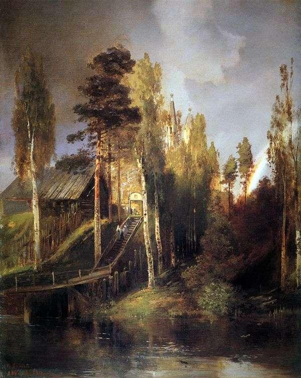 У ворот монастыря   Алексей Саврасов