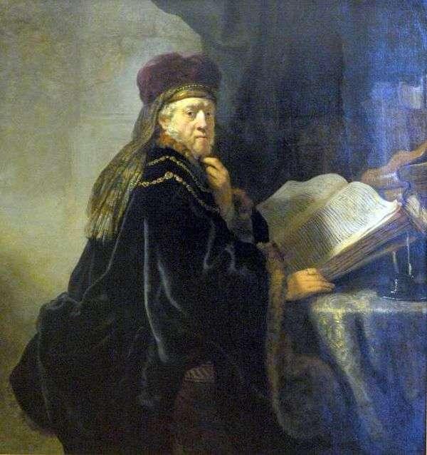 Ученый в кабинете (Раввин)   Рембрандт Харменс Ван Рейн
