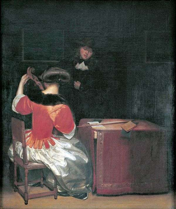 Урок музыки   Герард Терборх