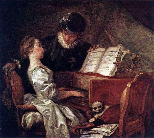 Урок музыки   Жан Оноре Фрагонар