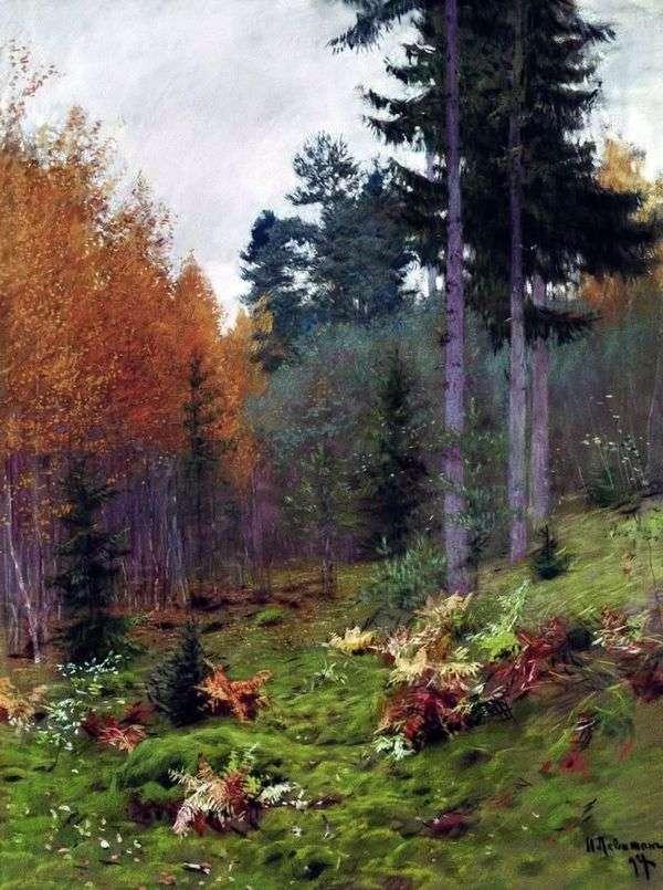 В лесу осенью   Исаак Левитан