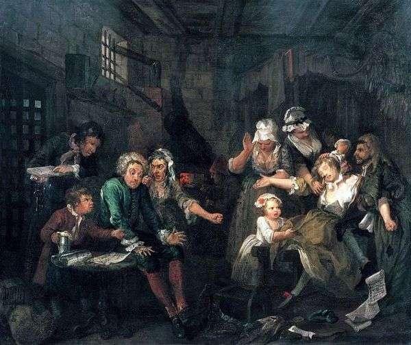 В тюрьме Флит   Уильям Хогарт