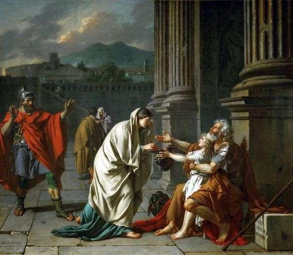 Велизарий, просящий подаяние   Жак Луи Давид