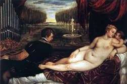 Вeнepa с органистом и купидоном   Тициан Вечеллио