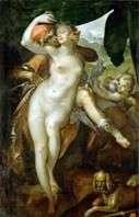 Венера и Адонис   Бартоломеус Шпрангер