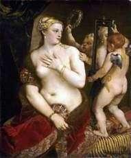 Венера с зеркалом   Тициан Вечеллио