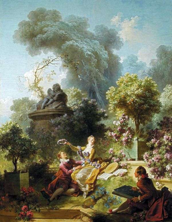 Венок возлюбленному   Жан Оноре Фрагонар