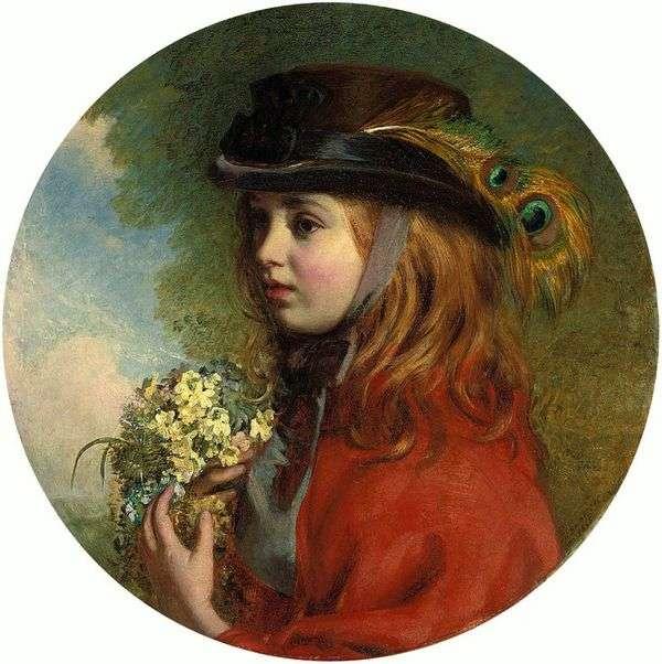 Весна (портрет девочки с букетом)   Генри Хетерингтон Эммерсон