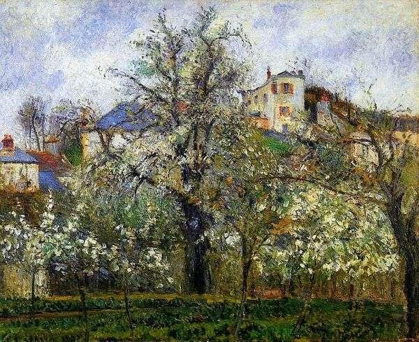 Весна в Понтуазе   Камиль Писсарро