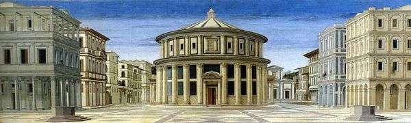 Вид идеального города   Пьеро делла Франческа