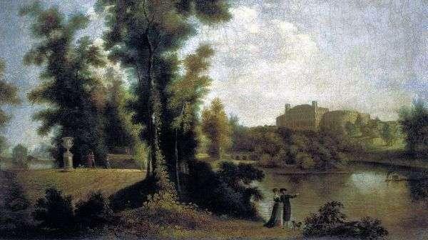 Вид на Гатчинский дворец с Длинного острова   Семен Щедрин