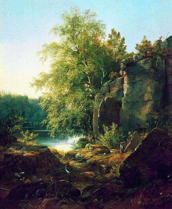 Вид на острове Валааме   Иван Шишкин