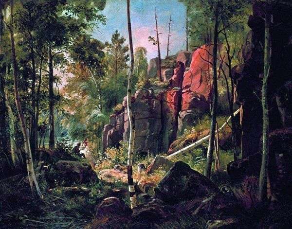 Вид на острове Валааме (Местность Кукко)   Иван Шишкин