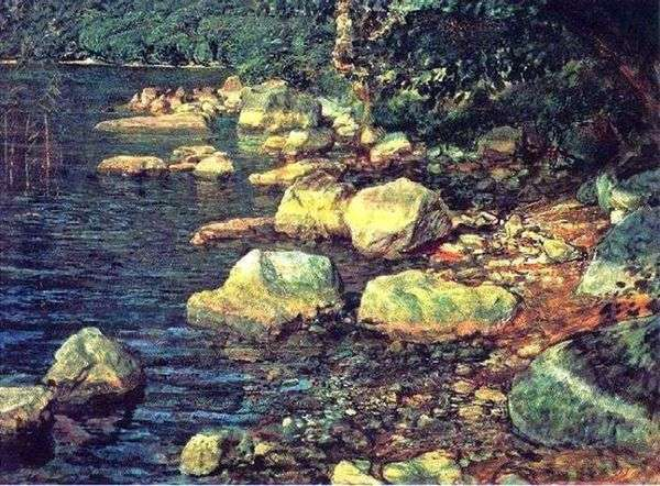 Вода и камни под Палаццуоло, близ Флоренции   Александр Иванов