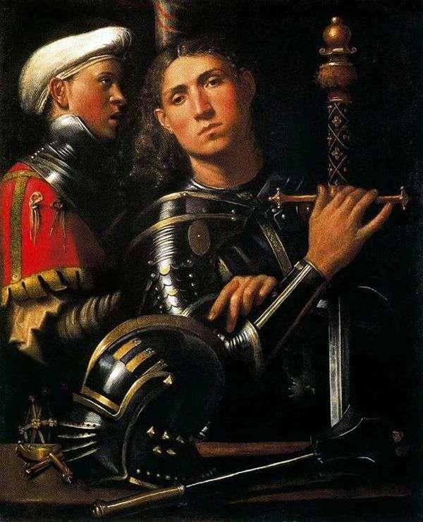 Воин со своим оруженосцем   Джорджоне