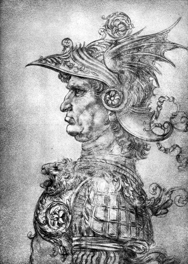 Воин в шлеме и доспехах   Леонардо да Винчи