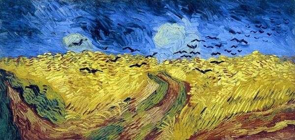 Вороны на пшеничном поле (Пшеничное поле с воронами)   Винсент Ван Гог