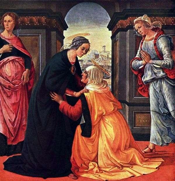 Встреча Марии и Елисаветы   Доменико Гирландайо