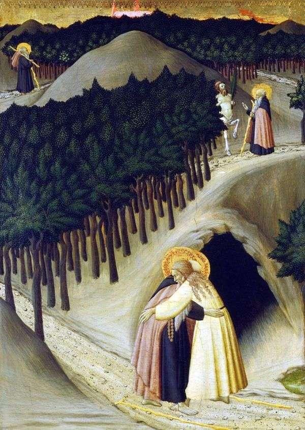 Встреча св. Антония со св. Павлом   Стефано Сассетта