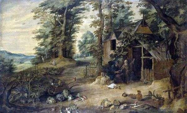 Встреча святого Антония Великого и Павла Отшельника   Давид Тенирс