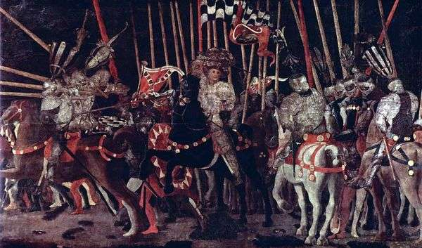 Вступление в бой Микелетто да Котиньолы   Паоло Учелло