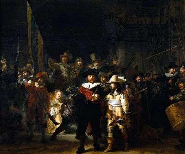 Выступление стрелковой роты   Рембрандт Харменс Ван Рейн