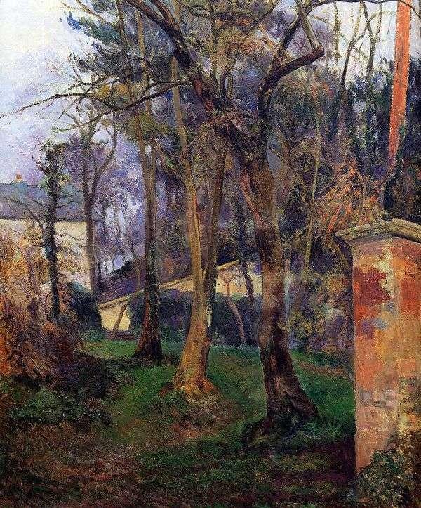 Заброшенный сад   Поль Гоген