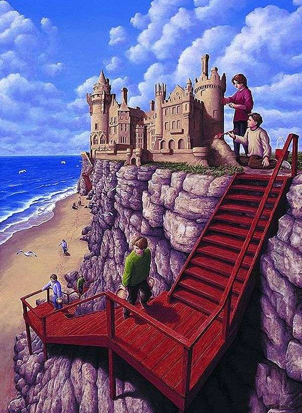 Замок на скале   Роб Гонсалвес
