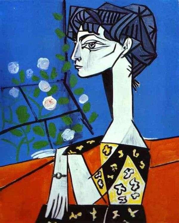 Жаклин с цветами   Пабло Пикассо