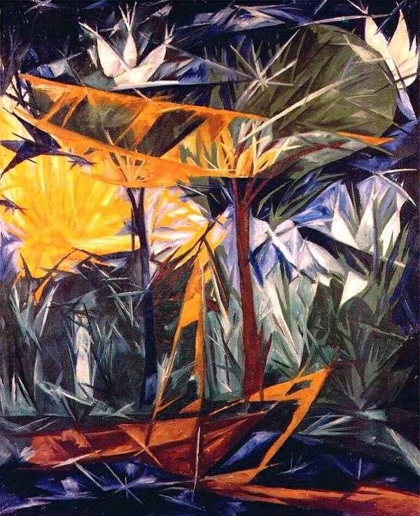 Желтый и зеленый лес   Наталья Гончарова
