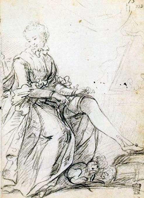 Женщина, поправляющая подвязку   Джошуа Рейнолдс