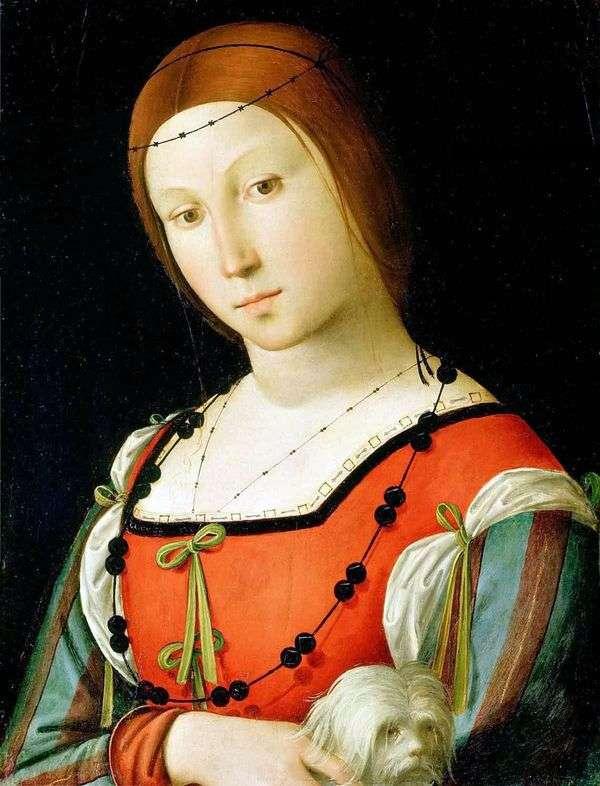 Женщина с комнатной собачкой   Коста Лоренцо