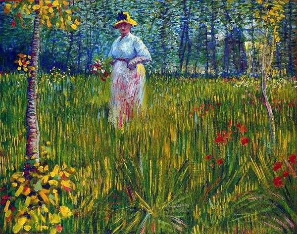 Женщина в саду   Винсент Ван Гог