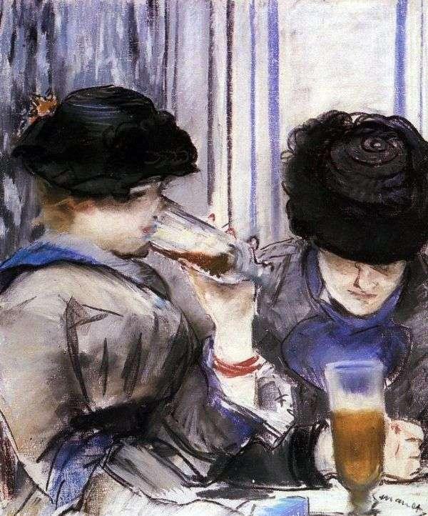 Женщины, пьющие пиво   Эдуард Мане