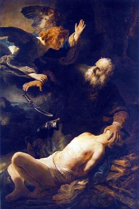 Жертвоприношение Авраама   Рембрандт Харменс Ван Рейн
