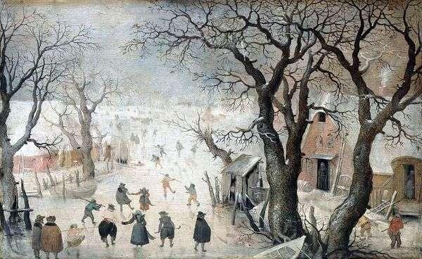 Зима в городе   Аверкамп Хендрик