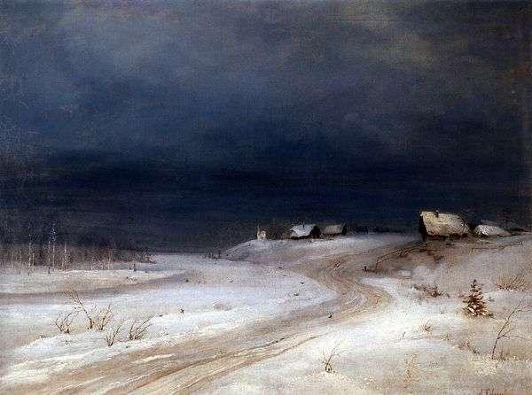 Зимний пейзаж   Алексей Саврасов