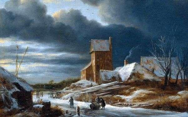 Зимний пейзаж   Якоб ван Рейсдал
