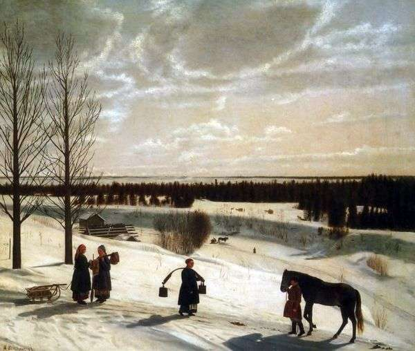 Зимний пейзаж   Никифор Крылов