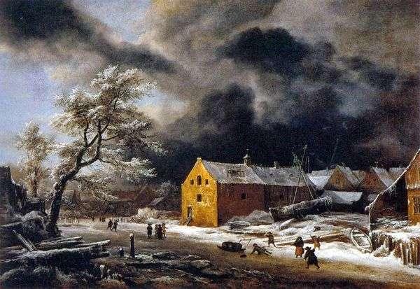 Зимний вечер   Якоб ван Рейсдал