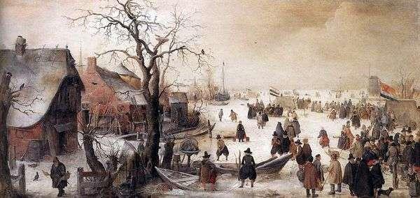 Зимой на канале   Аверкамп Хендрик