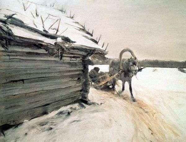 Зимой   Валентин Серов