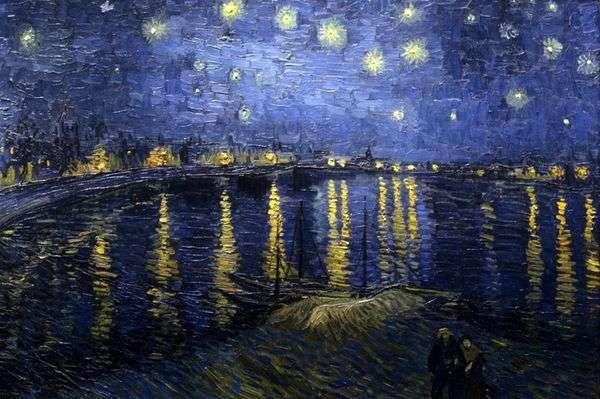 Звездная ночь над Роной   Винсент Ван Гог